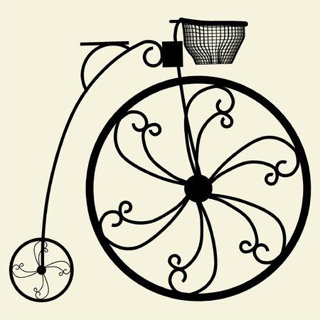 Penny-Farthing Bicycle 矢量图像