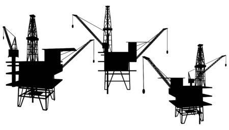 нефтяной: Oil Drilling Platform