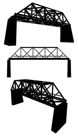 steel bridge: Rail Bridge Illustration