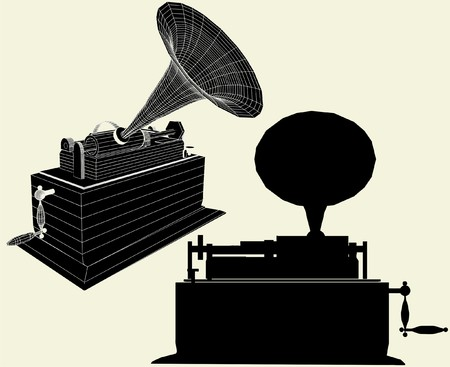 edison: Antique Edison Gramophone