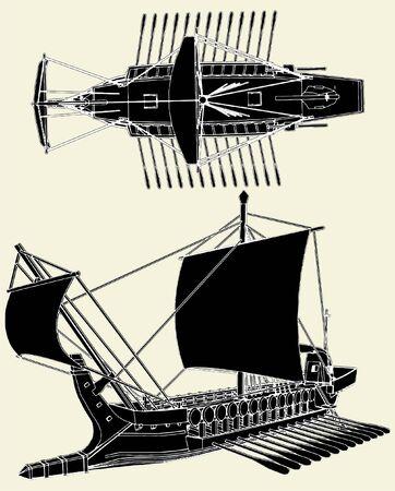 Die antiken griechischen Ship