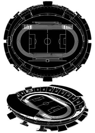 Voet bal voet bal stadion Vector Illustratie
