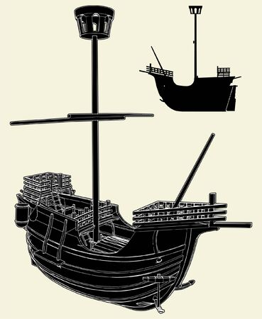 The Ancient Ship Vector