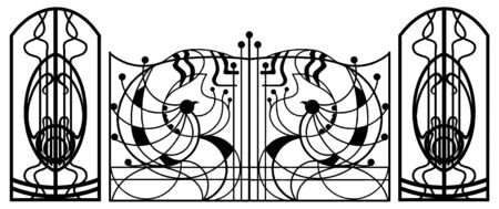 Gate Stock Vector - 8032743
