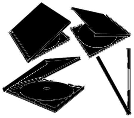 cd case: Caja del CD Vectores