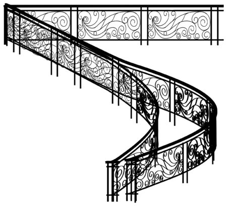 Spiral Fence For Stairs Vector