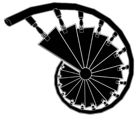 arquitecto: Escalera de caracol