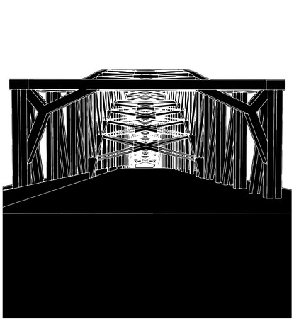underside: Arch Bridge Illustration