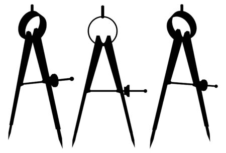Divider Compasses 矢量图像