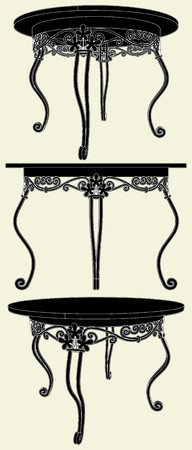 vintage furniture: Antique Table Illustration