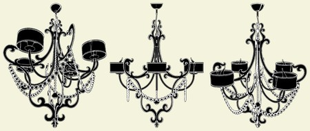 Luster Chandelier Stock Vector - 8032800