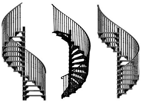 Spiral Staircase Stock Vector - 8032797