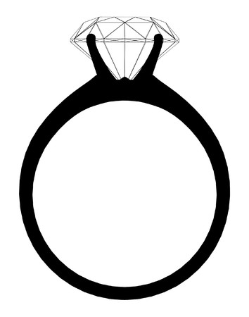 verlobung: Ring mit Diamant Illustration