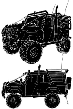 Offroad Car Stock Vector - 8032793