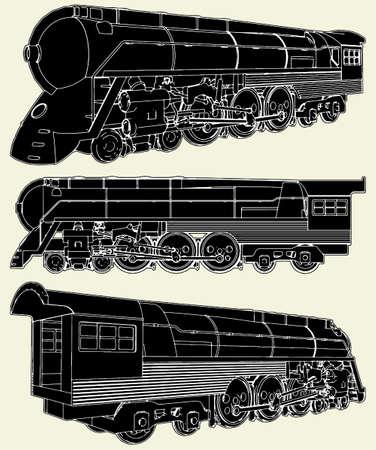 Antique Locomotive Stock Vector - 8069474
