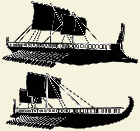 The Ancient Viking Ship Stock Vector - 8069456