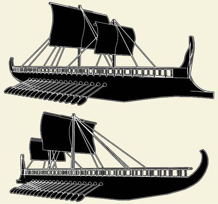 ship storm: The Ancient Viking Ship