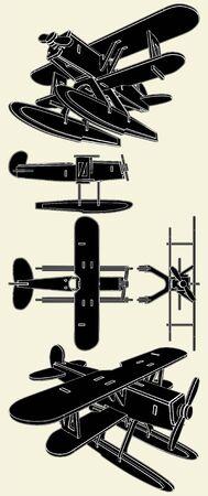 float: Handmade Model Of Hydro Airplane