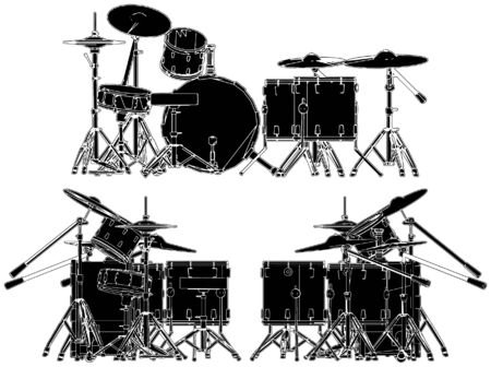 drum and bass: Drums