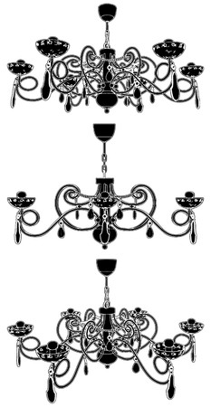 luster: Luster Chandelier Illustration