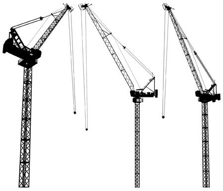 Elevating Construction Crane  矢量图像