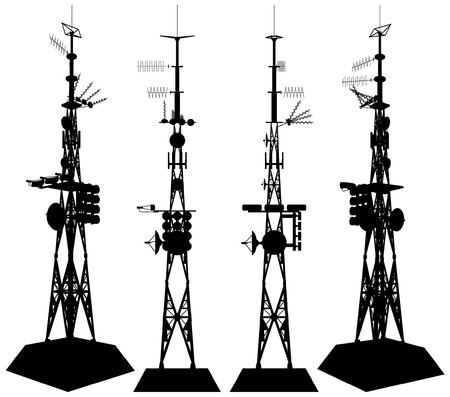 telecommunication tower: Telecommunications Tower Illustration