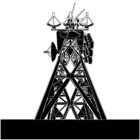 telecomunicaci�n: Torre de telecomunicaciones  Vectores