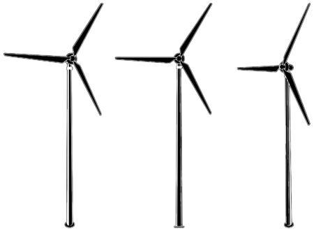 発電機: 風力タービン  イラスト・ベクター素材