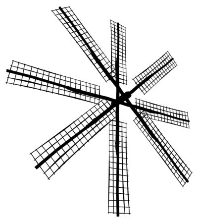 Antique Windmill Stock Vector - 8069460