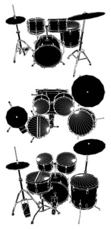 stage set: Drums
