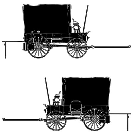 coupling: Western Stage Coach Wagon