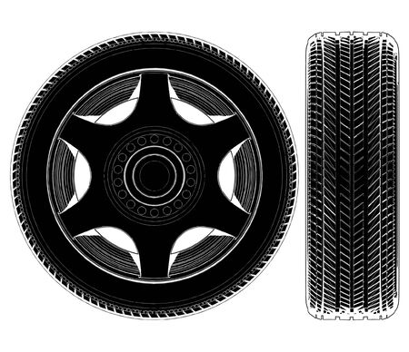 1 object: Car Wheel Tire Illustration