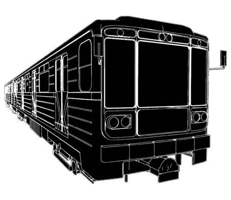 Metro Train Wagon Stock Vector - 8069501
