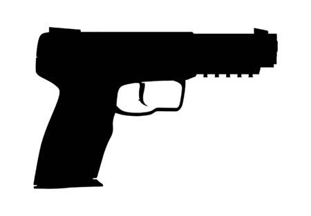 Handgun Pistol Stock Vector - 8069489