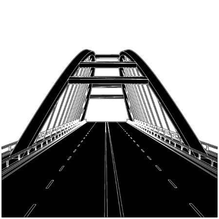 Road The Bridge Stock Vector - 8069527