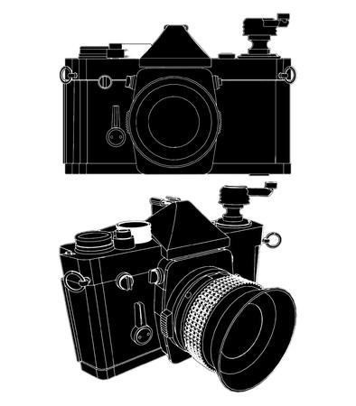 shutter aperture: Camera Illustration