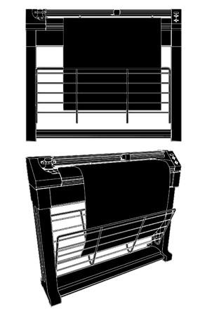 Printer Plotter Stock Vector - 8069533