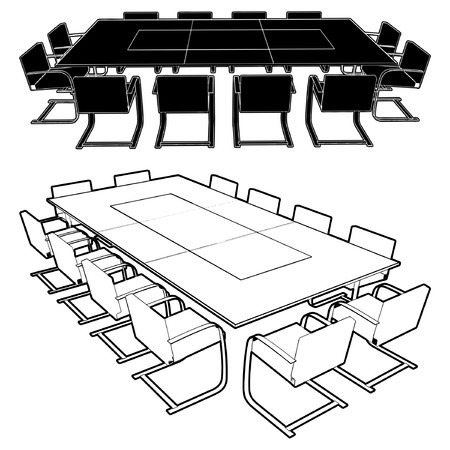 Sitzung Conference Table  Illustration
