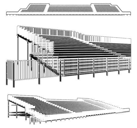 Montaje de estructura para estadios deportivos