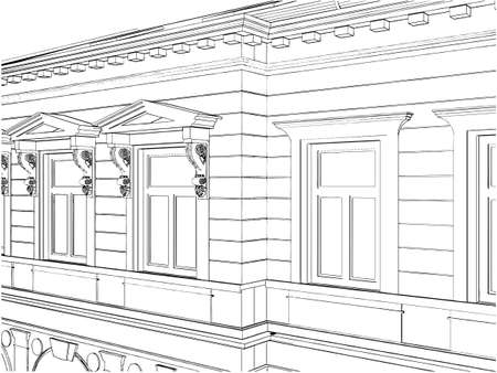Building Eclectic House Vector