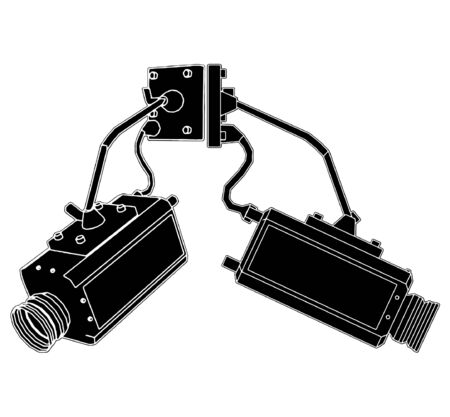 home video camera: Security Camera Illustration