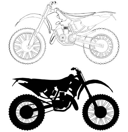 Motocross Bike Stock Vector - 8069592