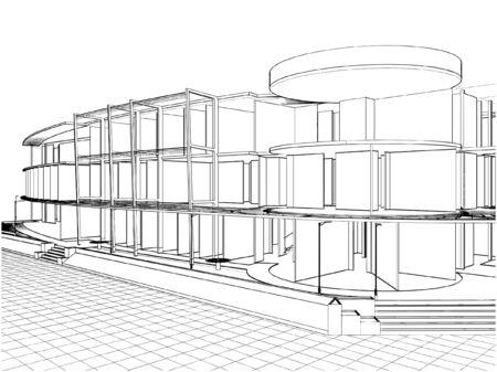 Abstrakt Konstruktionen Vektorgrafik