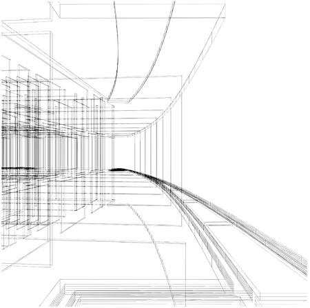 office plan: Abstract Construction Of The Line Illustration