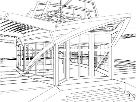 Abstract Construction Of The Ship Building 免版税图像 - 8069635