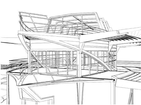 Abstract Construction Of The Ship Building