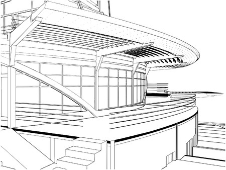 Abstract Construction Of  Ship Building  Stock Vector - 8069611