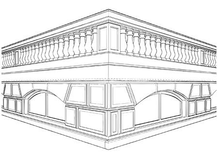 Baluster Railing op het terras Stockfoto - 8135927