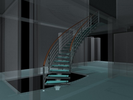 staircases: Abstract Spiral Staircases Constructions