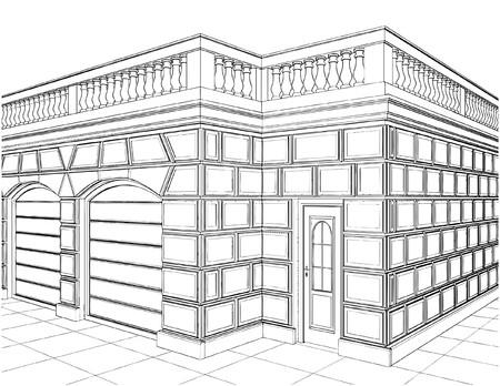 Garage Eclectic Buildings Stock Vector - 8711868